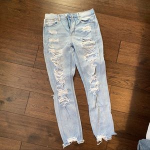 Distressed American Eagle Mom Jeans